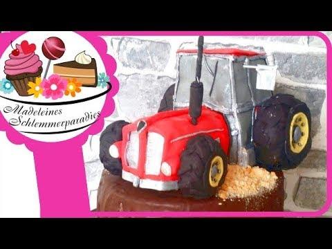 Traktor Aus Fondant I Selber Modellieren I Diy Madeleines