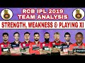 IPL 2019 : RCB STRENGTH & WEAKNESS - RCB FULL SQUAD ANALYSIS | RCB CONFIRM PLAYING XI IN IPL 2019