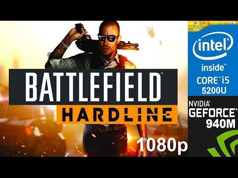 Battlefield Hardline on HP Pavilion 15-ab032TX, Medium Setting 1080p, Core i5 5200u + Nvidia 940m