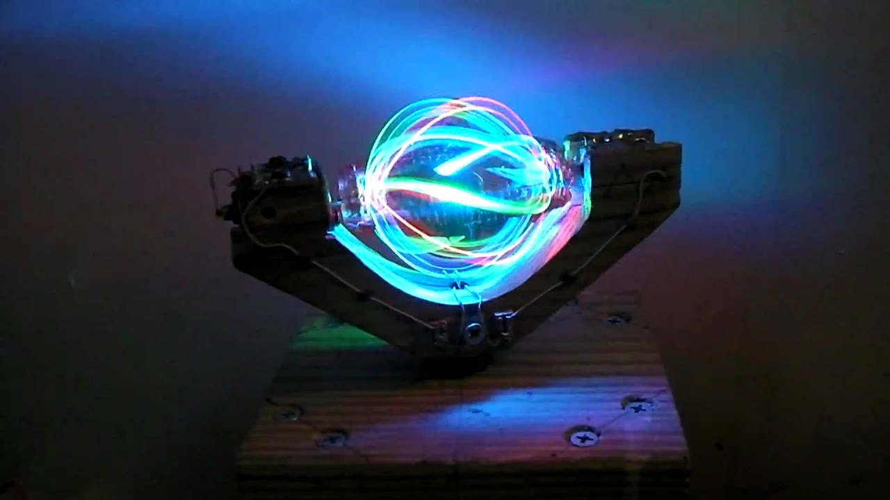 This Spinning LED Ball Looks Like Some Kind of a Stargate Device