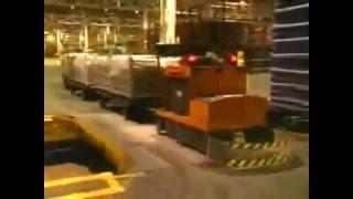 Savant Tow AGV -- Rail Track Crossing