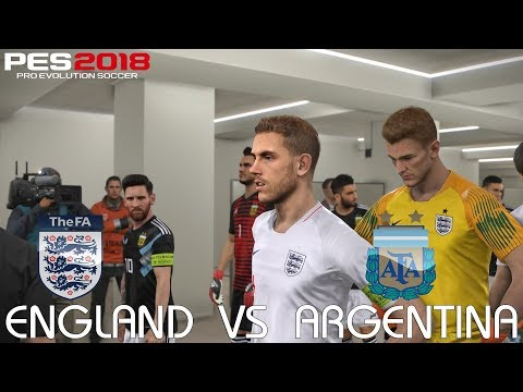 PES 2018 (PC) England v Argentina @ Emirates Stadium | 2018 FIFA World Cup Jerseys | 1080P 60FPS