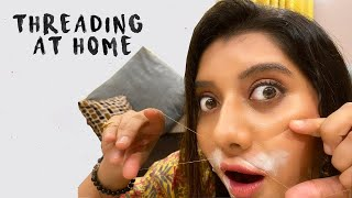 Threading at Home | DIY | Easy Tutorial for Beginners
