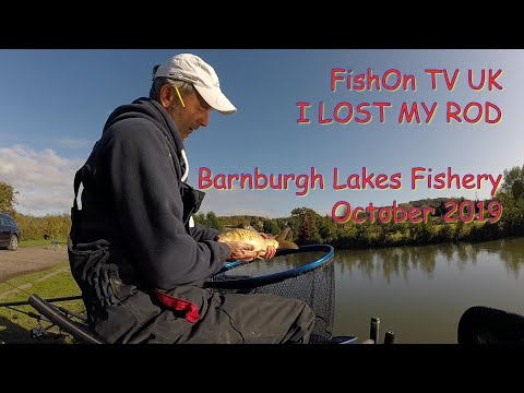 FishOn TV UK.  Barnburgh Lakes Fishery Live Match Fishing.  I LOST MY ROD!  29/10/2019