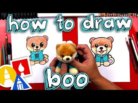 How To Draw Boo The Cutest Dog In The World - Gund Giveaway!