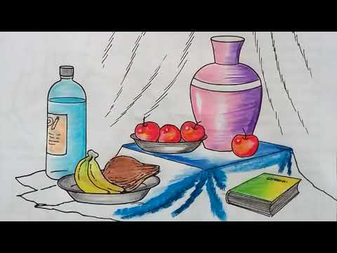 How To Draw Still Life Easy Step By Step L Still Life Drawing Youtube