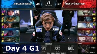 AFS vs PVB | Day 4 Group Stage S8 LoL Worlds 2018 | Afreeca Freecs vs Phong Vũ Buffalo