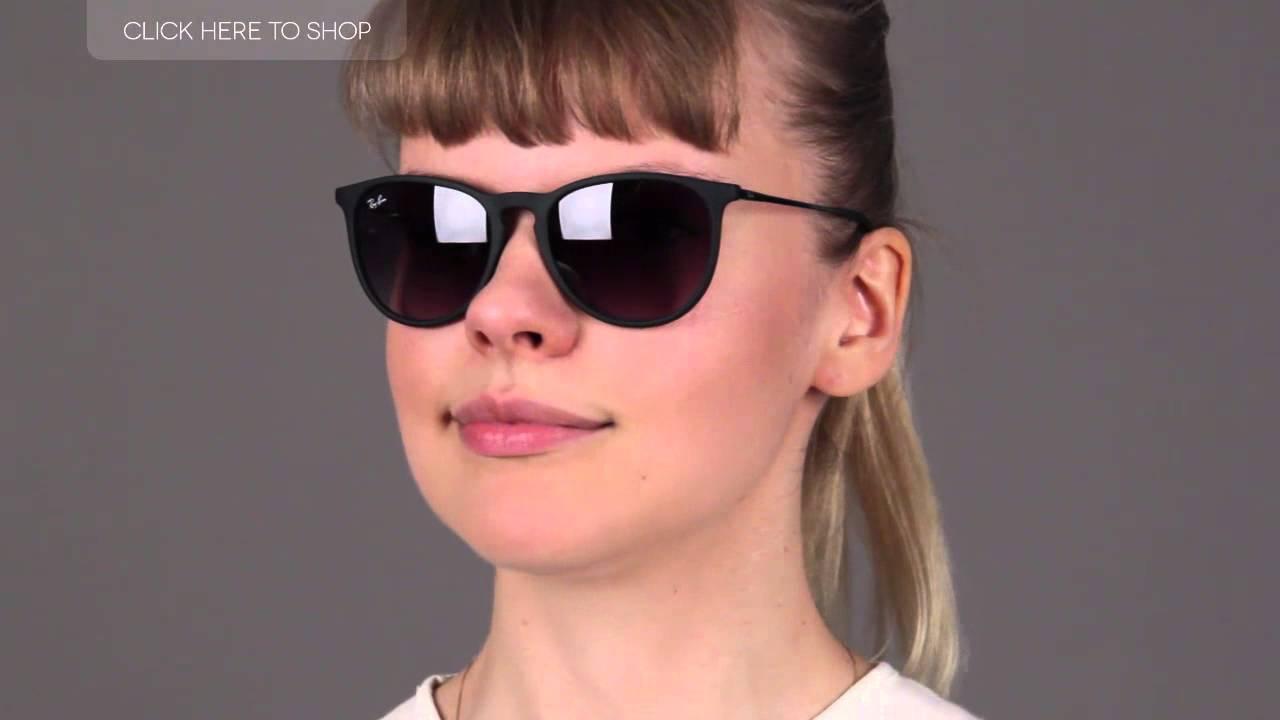 ba4de8c6600e Ray-Ban RB4171 Erika Black Sunglasses Review - YouTube