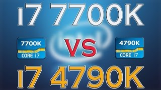 7700k vs 4790k i7 7700k benchmark test kaby lake vs haswell review and comparison