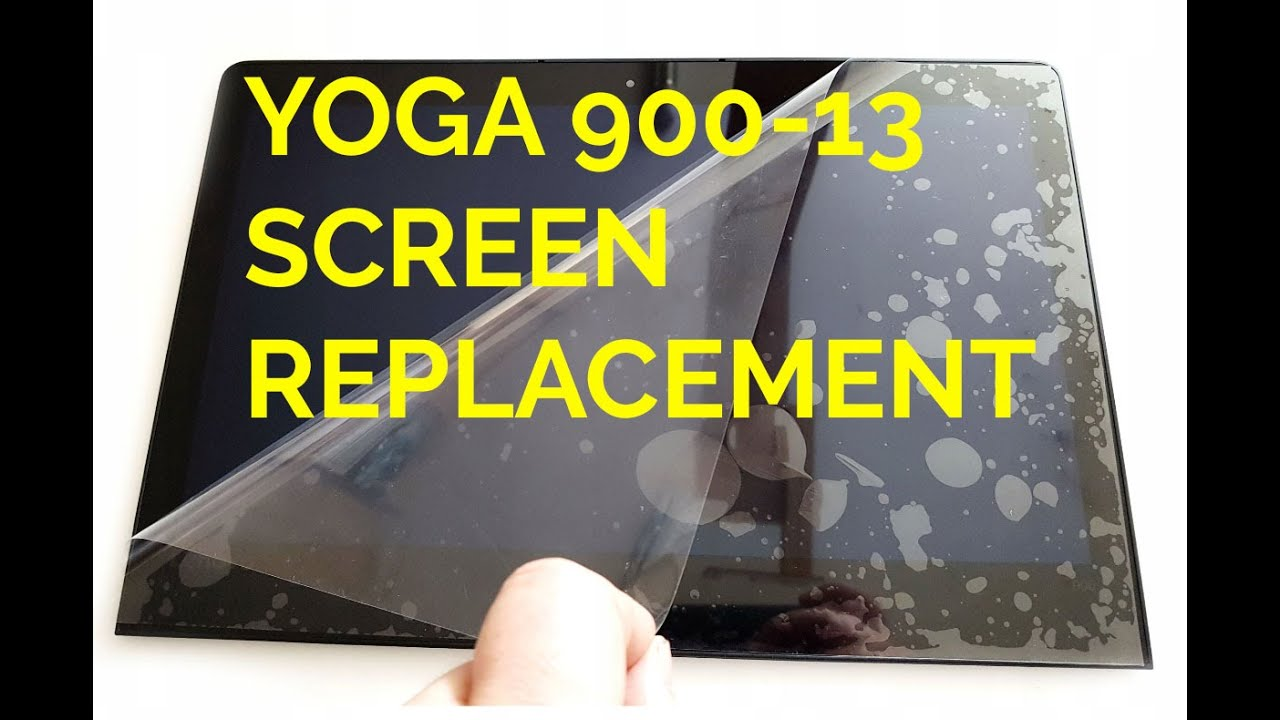How to replace LCD display on Lenovo YOGA 900-13 4K with touchscreen   Screen replacement  900-13ISK