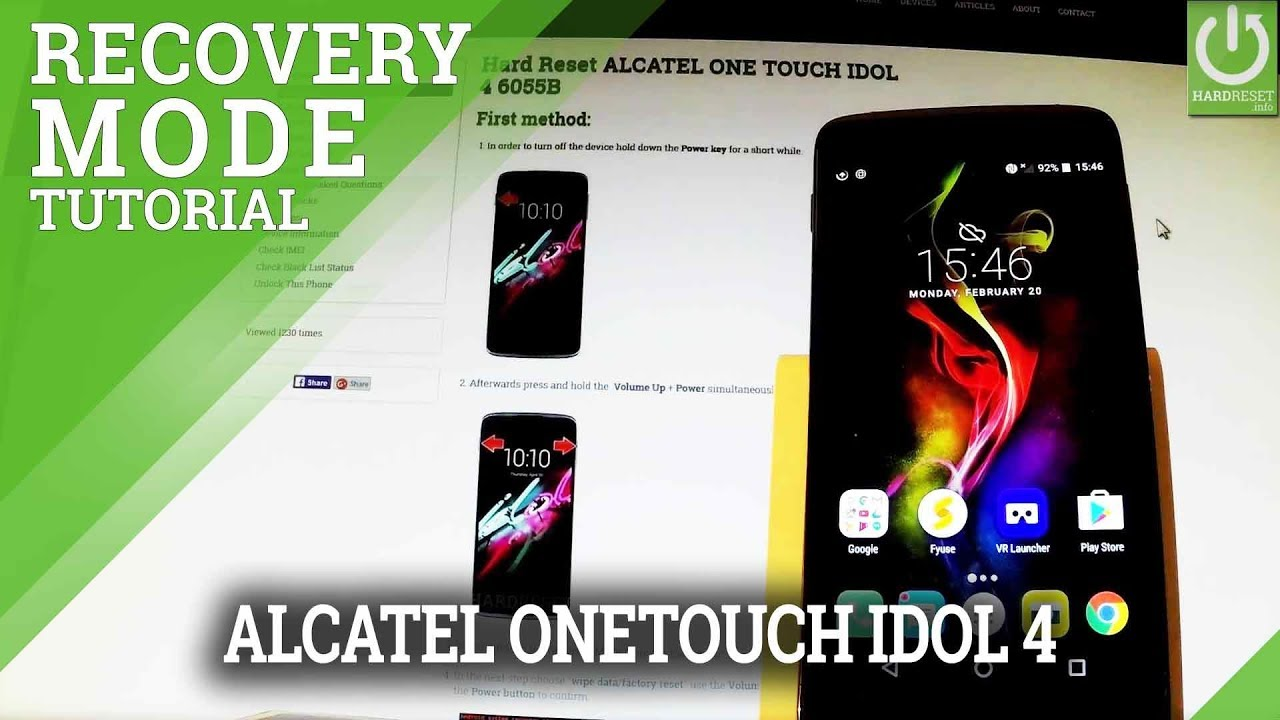 Recovery Mode in ALCATEL ONE TOUCH IDOL 4 - Enter / Quit Recovery