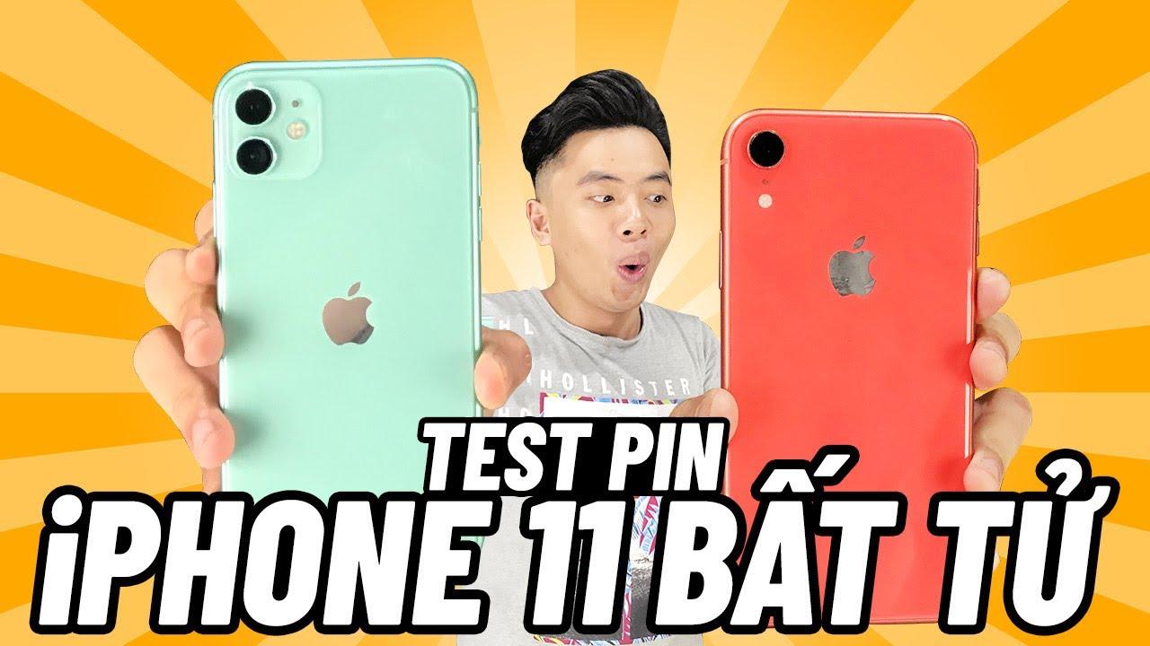 Thức trắng đêm TEST PIN iPhone 11 và iPhone XR
