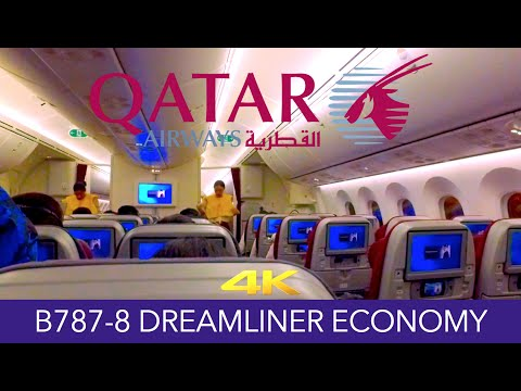 Qatar Airways B787-8 Hong Kong ✈ Doha Economy 4K Trip Report