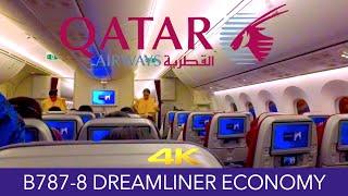 Qatar Airways B787-8 Hong Kong ✈ Doha Economy 4K Trip Report