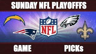 Chargers vs. Patriots & Eagles vs. Saints: NFL Divisional Playoffs