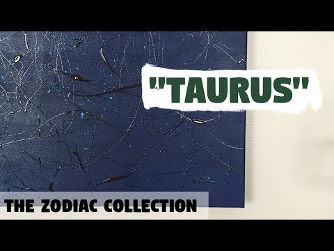 Taurus acrylic painting | Original Abstract Art by Eilak Designs