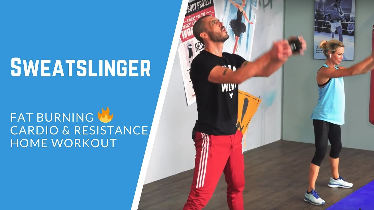 FAT burning 30 minute cardio and resistance home workout