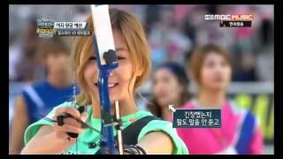 130928 偶像運動會 射箭 Idol Star archery Apink cut