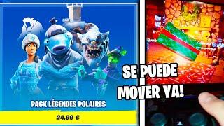 *NUEVOS TRUCOS* del FESTIVAL de INVIERNO de FORTNITE!! MOVER EL REGALO GRANDE!!! 🎁😱
