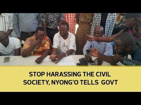 Stop harassing the civil society, Nyong'o tells government