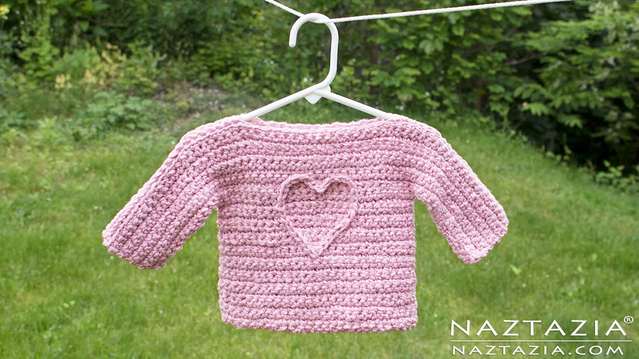 7992888acc38 Learn How to Crochet an Easy Baby or Child T Sweater - Collab with ...
