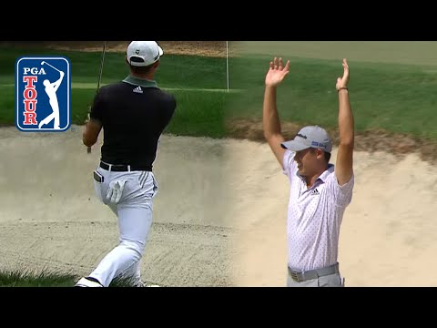 Collin Morikawa's UNBELIEVABLE bunker hole outs of 2020