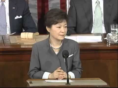 Park Geun Hye Addresses Joint Session of U S  Congress