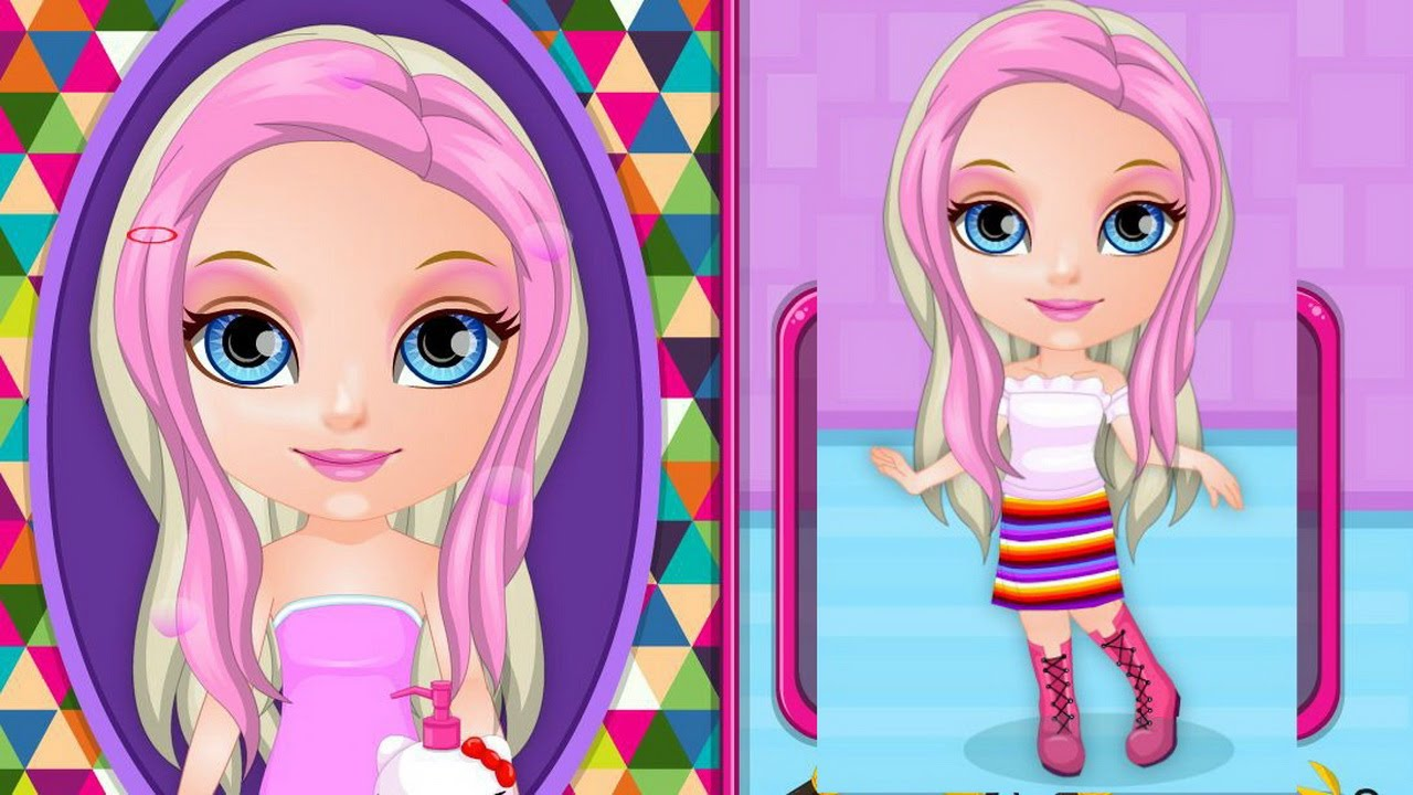 Newest Baby Barbie Crazy Haircuts Gameplay-Baby Barbie Games-Hair Care Game - YouTube