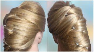 Красивая и легкая прическа Кокон на каждый день Quick Hairstyle