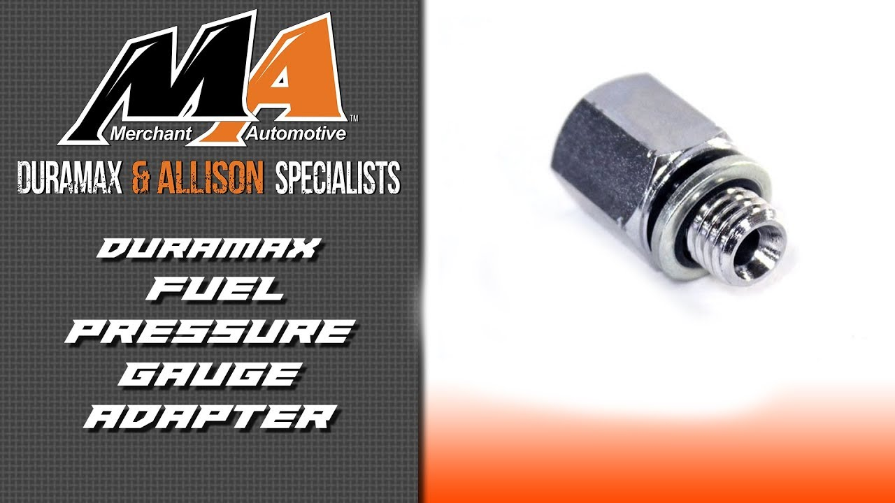 Product Spotlight Fuel Pressure Gauge Adapter Youtube Lly Duramax Filter Access