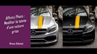 Tuto Affinity Photo - Modifier la teinte d'une voiture grise