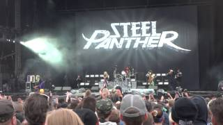(HD) Steel panther - introducing members speach + asian hooker live at download festival 2014