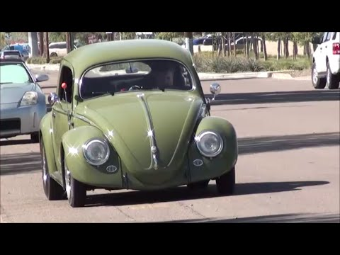 Vintage Volkswagen on the Street   1955 Cal look VW Bug PiMENTO MOMENTO - YouTube