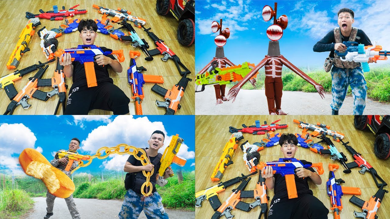 Battle Nerf War: Top 10 Police Nerf Guns Robbers Group BATTLE NERF