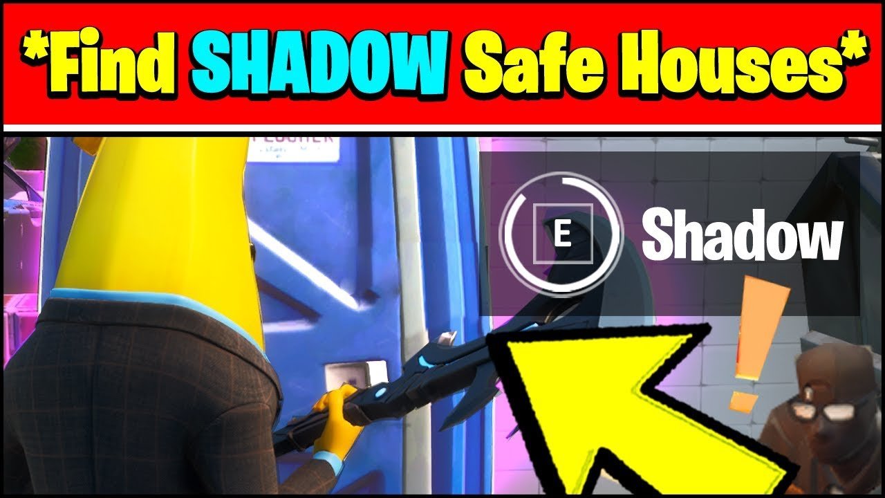 Find Shadow Safe Houses Locations Fortnite Season 2 Challenges Youtube