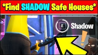 FIND SHADOW SAFE HOUSES LOCATIONS (Fortnite Season 2 Challenges)
