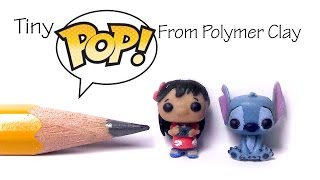 Cute Funko Pop / Pop Vinyl Inspired Polymer Clay Tutorial - Lilo & Stitch