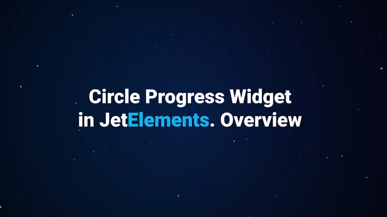 How to display Progress Bar and Circle Progress with Elementor