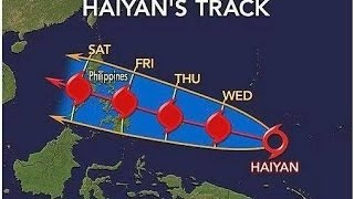 Prepping for Super Typhoon Haiyan - Heading for Central Philippines (11/8/2013)
