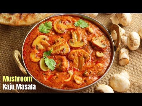Kaju Mushroom masala gravy curry for Roti , Naan, Variety Rice Recipe in Telugu || Visami Food