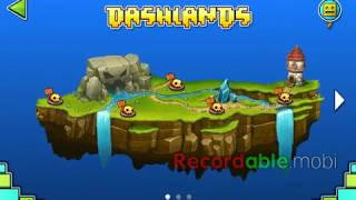 pasando la primer isla de geometry dash world