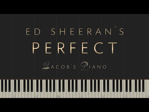 "Ed Sheeran - ""Perfect"" \\ Jacob's Piano \\ Synthesia Piano Tutorial"