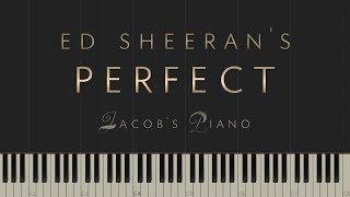 "Download Lagu Ed Sheeran - ""Perfect"" \\ Jacob's Piano \\ Synthesia Piano Tutorial Mp3"