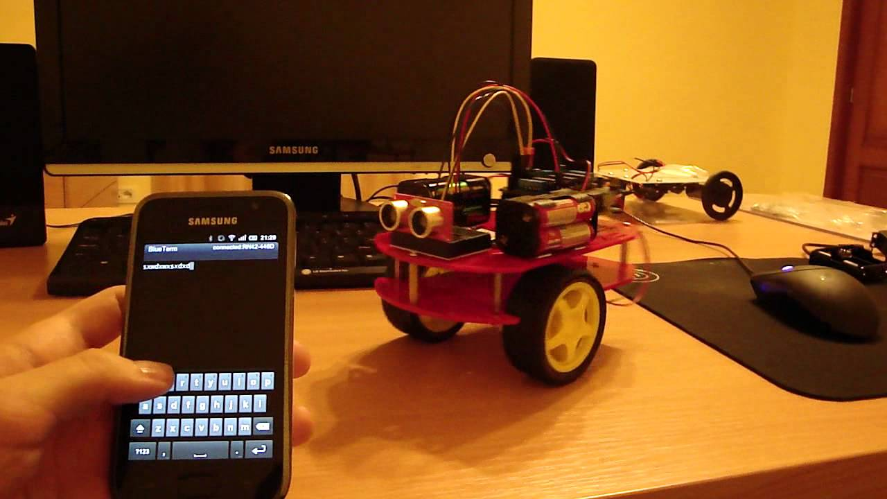 Arduino android bluetooth robot youtube