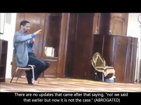 Hamed Ghazali explains Abrogation in Islam