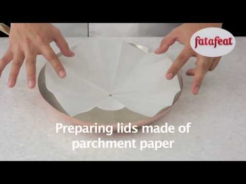 Lesson: Preparing Lids made by parchment paper - Fatafeat Academy - Fatafeat