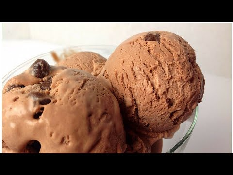 Homemade Chocolate Ice Cream Recipe - Egg Less - No Machine By (HUMA IN THE KITCHEN)