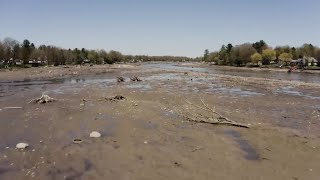 Lake vanishes after Michigan dam fails during record flooding