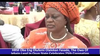 THE OWA OF IGBAJO OBA ADENIYI FASADE CELEBRATES 25YRS OF HIS REIGN