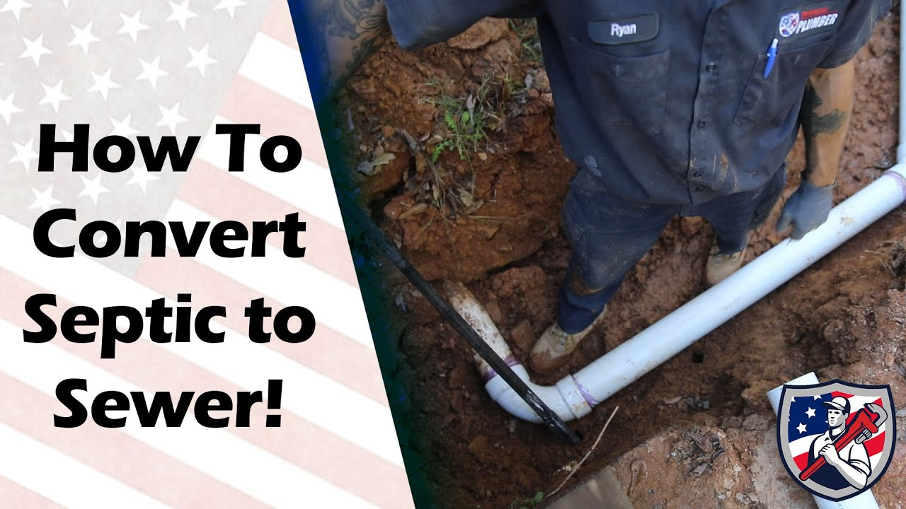 how much to convert from septic to sewer